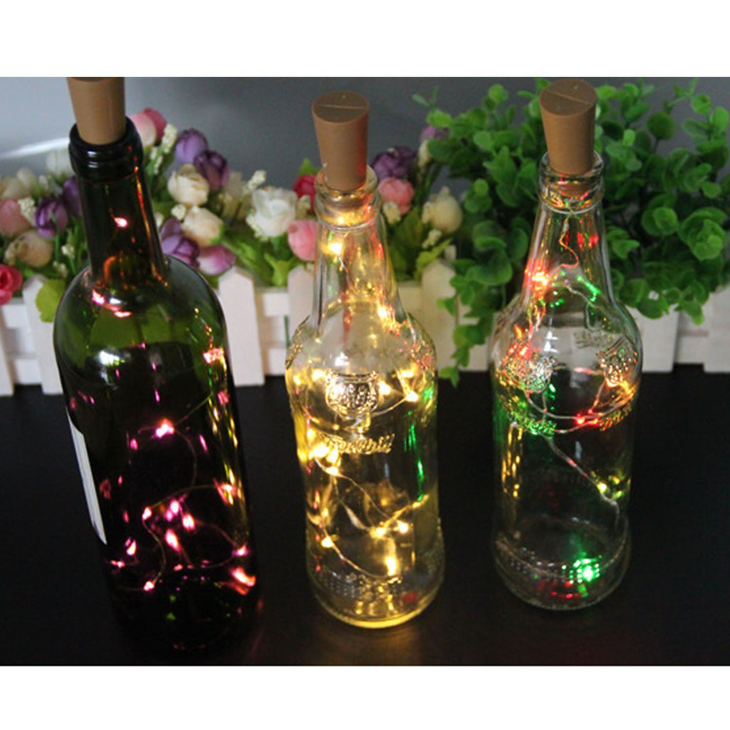 Kangkang@ 2M 20 Led Cork Shaped Wine Bottle Stopper Starry