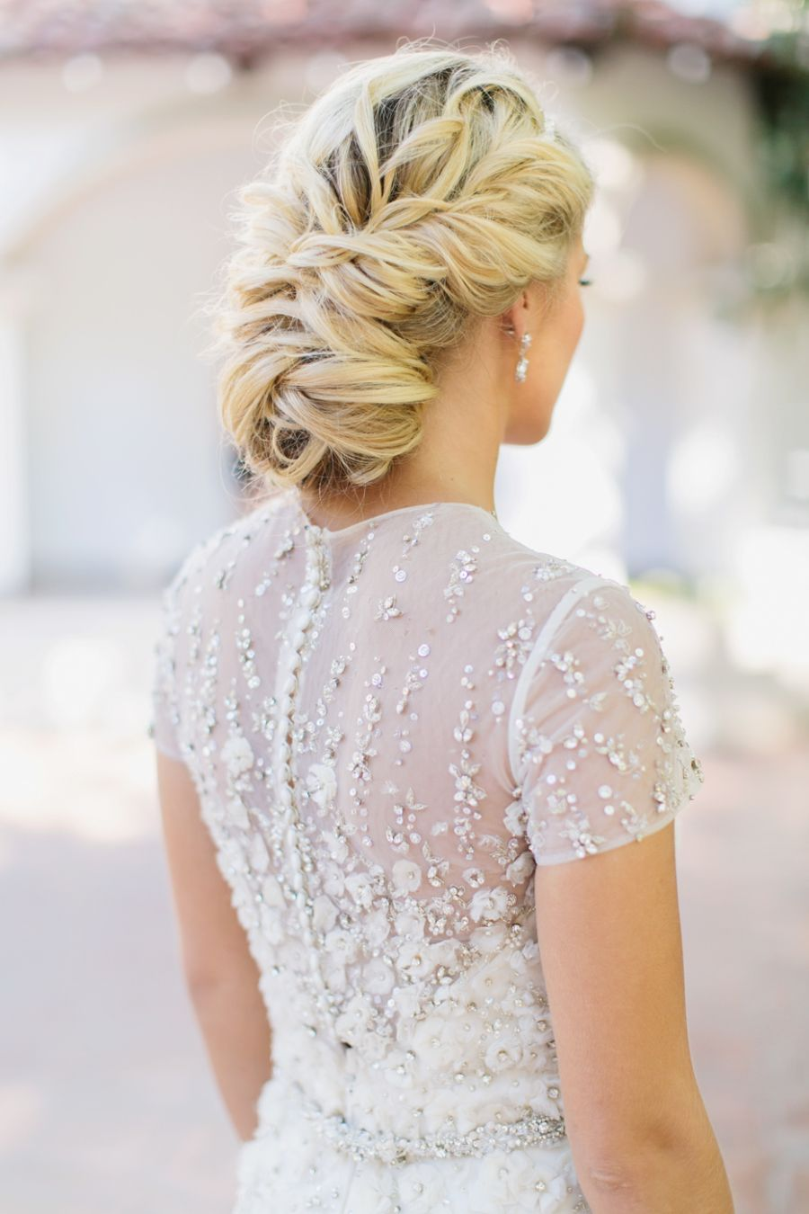 Elegant Summer Wedding Inspiration at Rancho Las Lomas | Updo ...