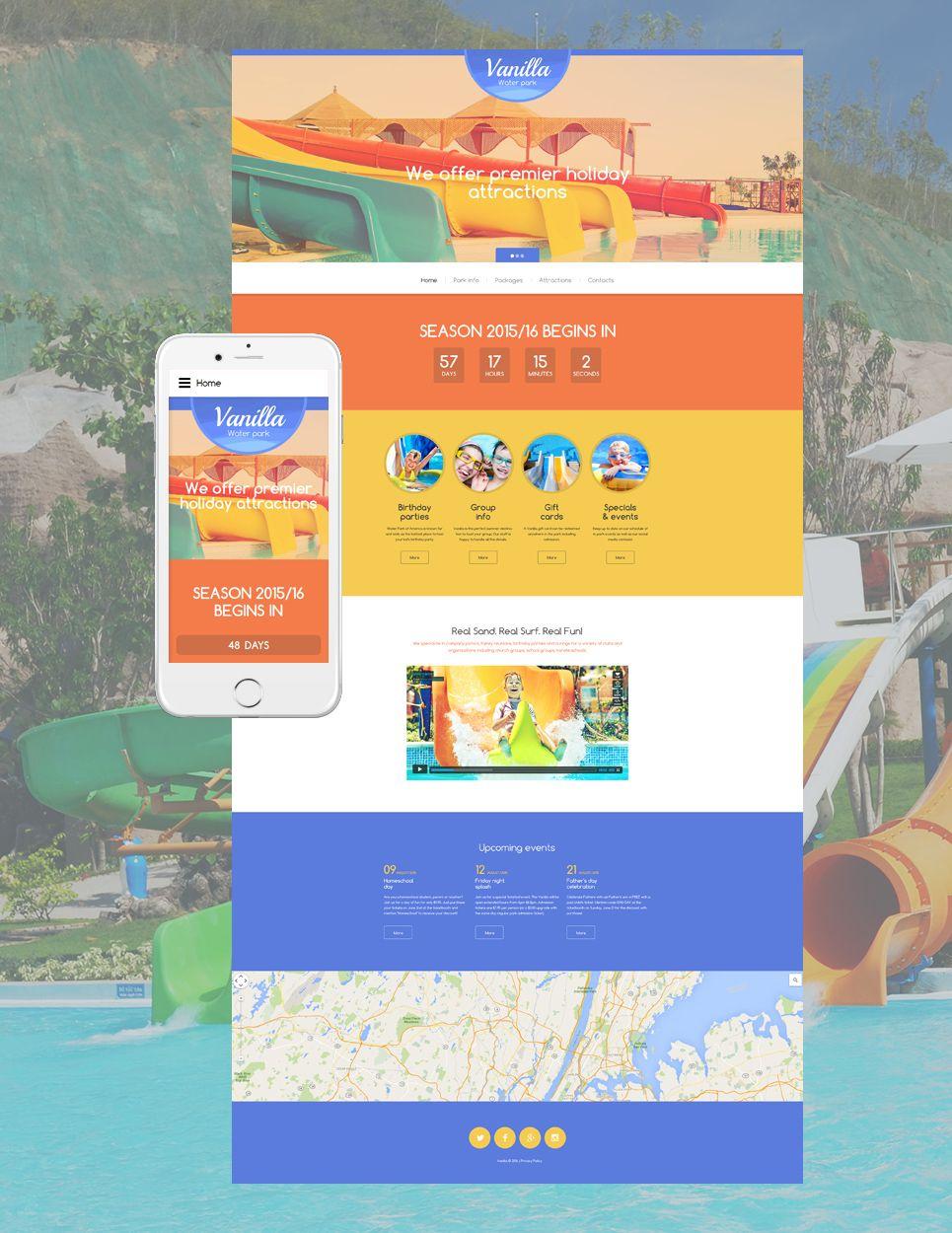 Vanilla Water Park Website Template