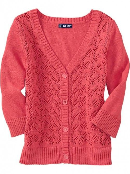 Old Navy Girls Pointelle Knit Sweater Cardis | Clothing