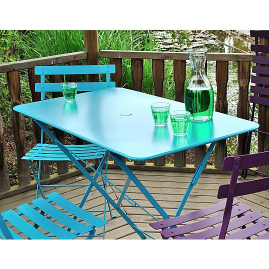 Table pliante FERMOB Bistro rectangulaire 117 x 77 cm - Tables ...