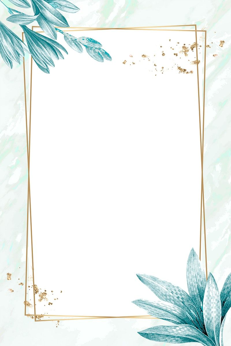 Download premium vector of Golden rectangle with floral frame vector by Te about frame vector illustration, art, background, badge, and banner 1228987