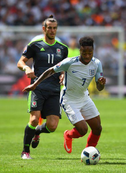 England 2 Wales 1 in 2016 in Lens. Raheem Sterling pulls ...