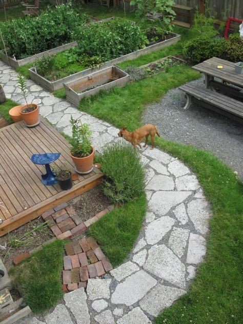 Garten gestalten beispiele  111 Gartenwege gestalten Beispiele - 7 tolle Materialien für den ...