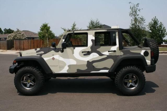 Arctic Camo Print Wrangler Camo Truck Custom Jeep Wrangler Trucks