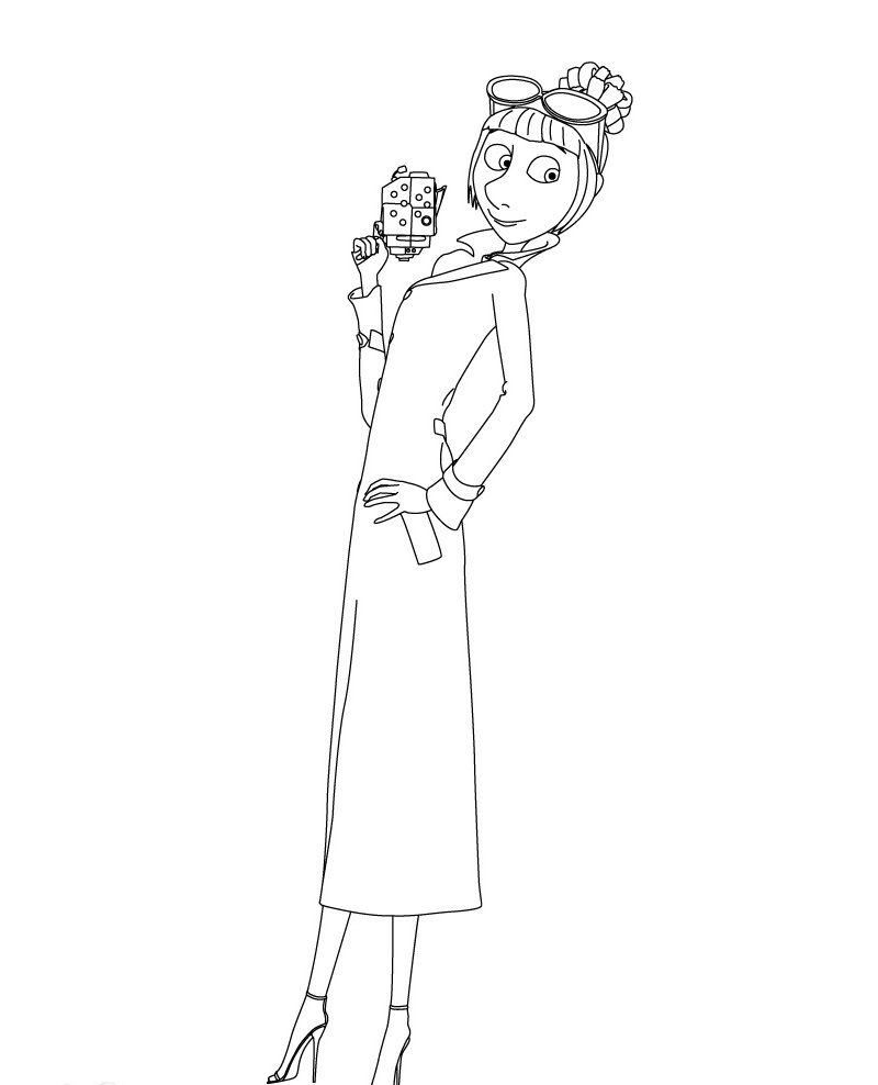 Lucy Wilde Despicable Me 2 Coloring Pages