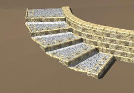 Retaining Wall Ideas Curved Steps With Corners Parallel To The