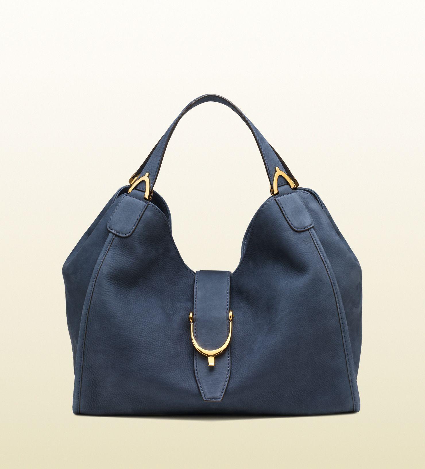 Gucci-borsa a spalla soft stirrup in camoscio | Borse | Pinterest ...