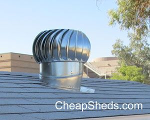 How To Install A Whirlybird Turbine Vent On Your Shed Roof Shed Plans Barns Sheds Gambrel Barn