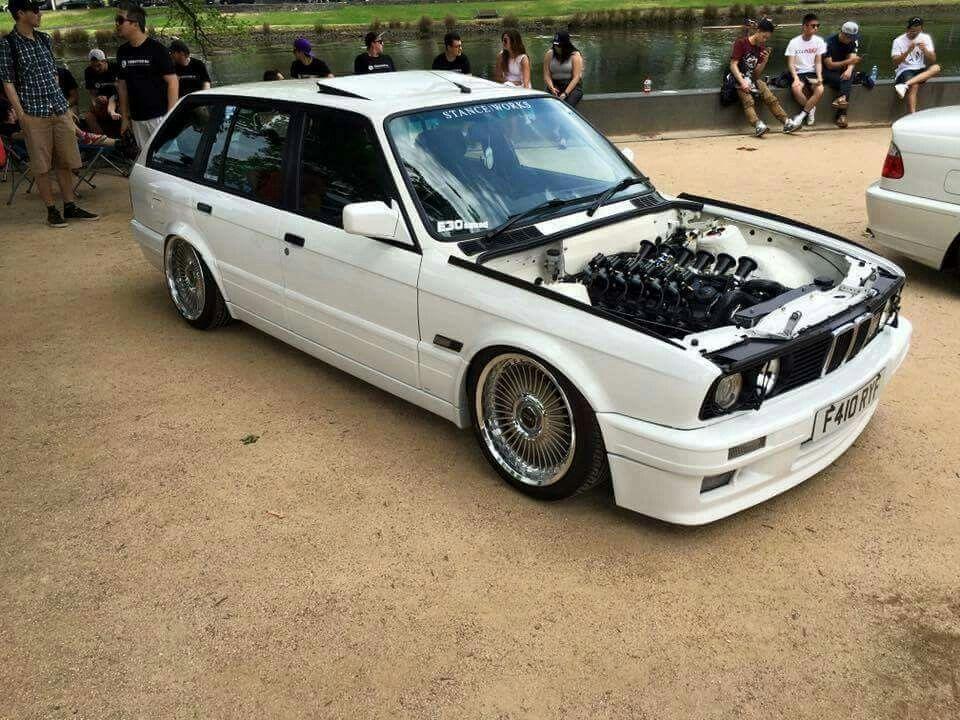 BMW E30 3 series Touring white Stanceworks | Cars ...