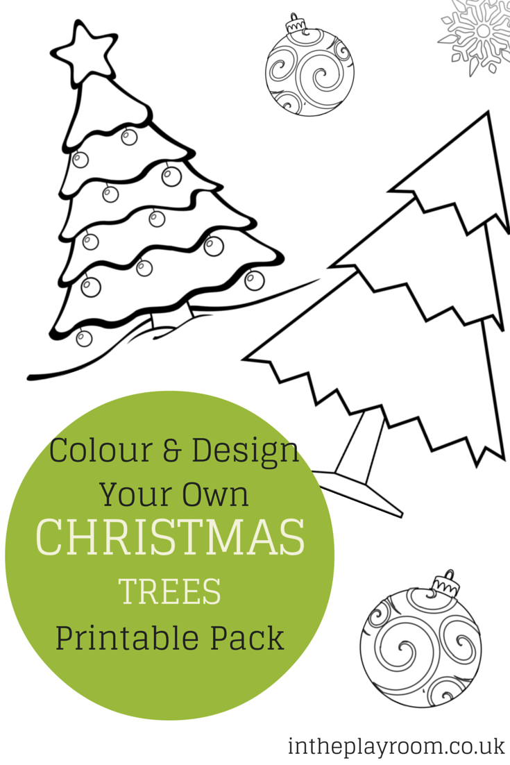 Colour and Design your own Christmas Tree Printables | Christmas ...