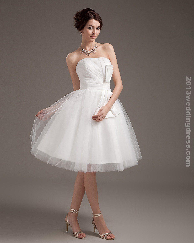 Short wedding dresses special satin applique shoulder straps short