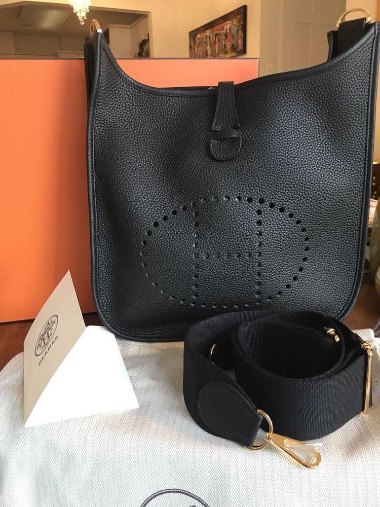 b955d962ef NIB New Hermes Evelyne III MM 29 Bag Black RARE Gold Hardware Original  Receipt! #fashion #clothing #shoes #accessories #womensbagshandbags (ebay  link)