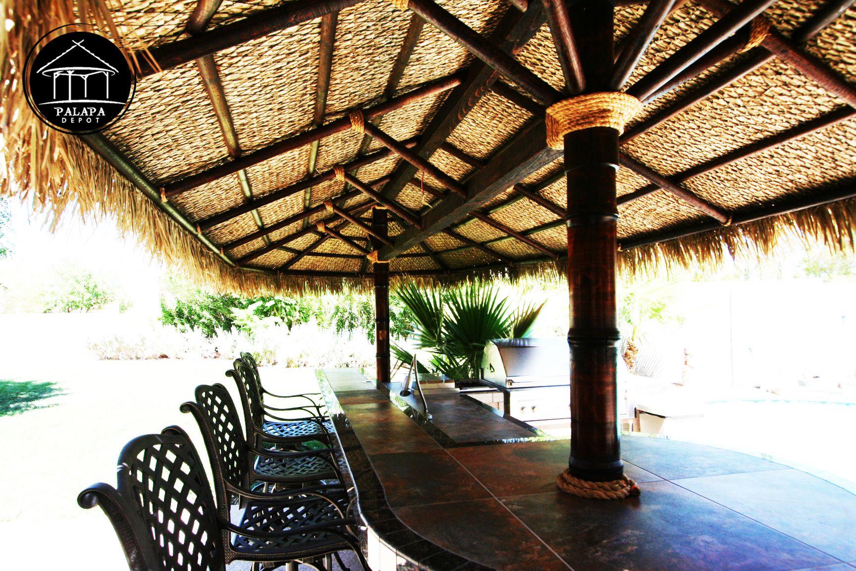 Tiki hut made by Palapa Depot - www.palapadepot.com ...