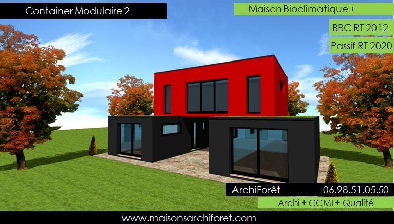 Maison toit plat et toiture terrasse bac acier ou siplast for Container maison permis