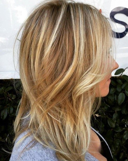 Mit frisuren strähnen dunkelblond Frisuren graue