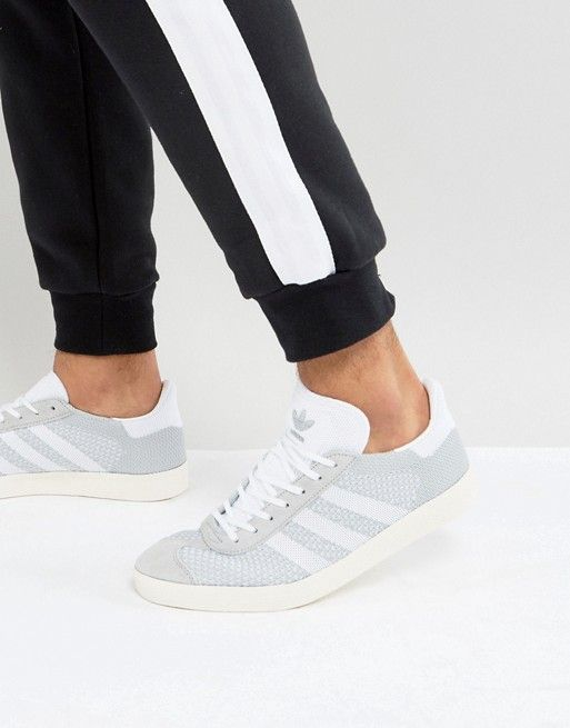 wholesale dealer dc97f a85a8 adidas Originals Gazelle Prime Knit Sneakers In Gray BB2751