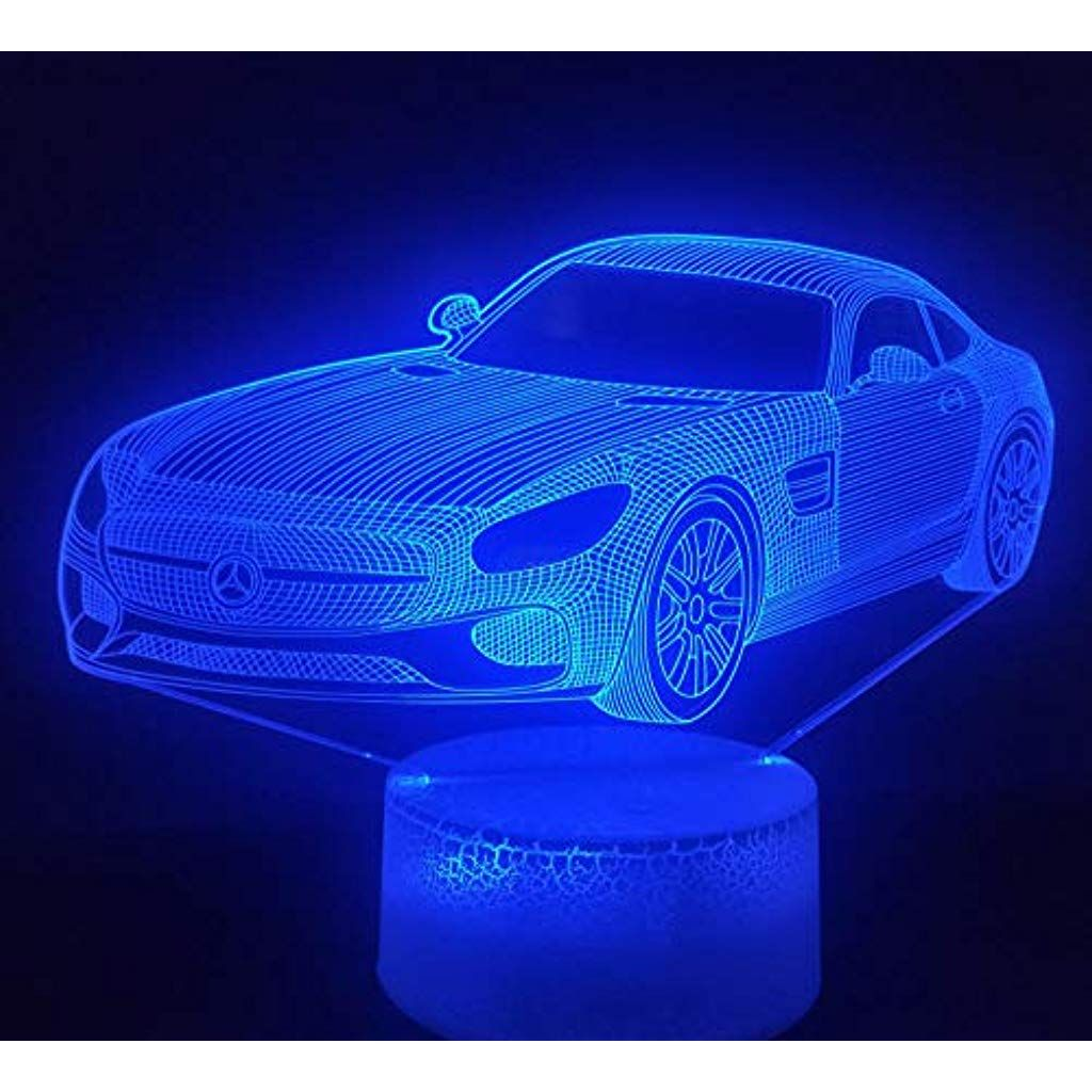 Auto Serie 3d Mercedes Benz Nachtlicht Bunte Led Hauptdekoration Lampe Usb Touch Taste Nachtlicht Abs Basis Basis Knacken Bekle Nachtlicht Led Licht