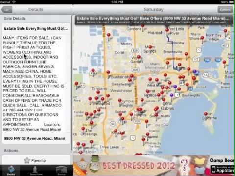 Yard Sale Mapper Iphone App Yard Sale Sale Iphone Apps