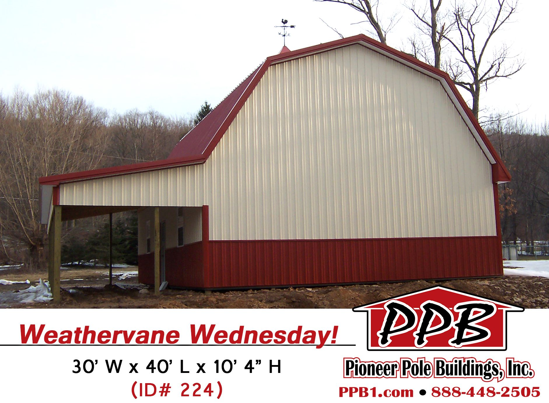 Check out this rooster weathervane wednesday 1 48 for Pole barn dimensions