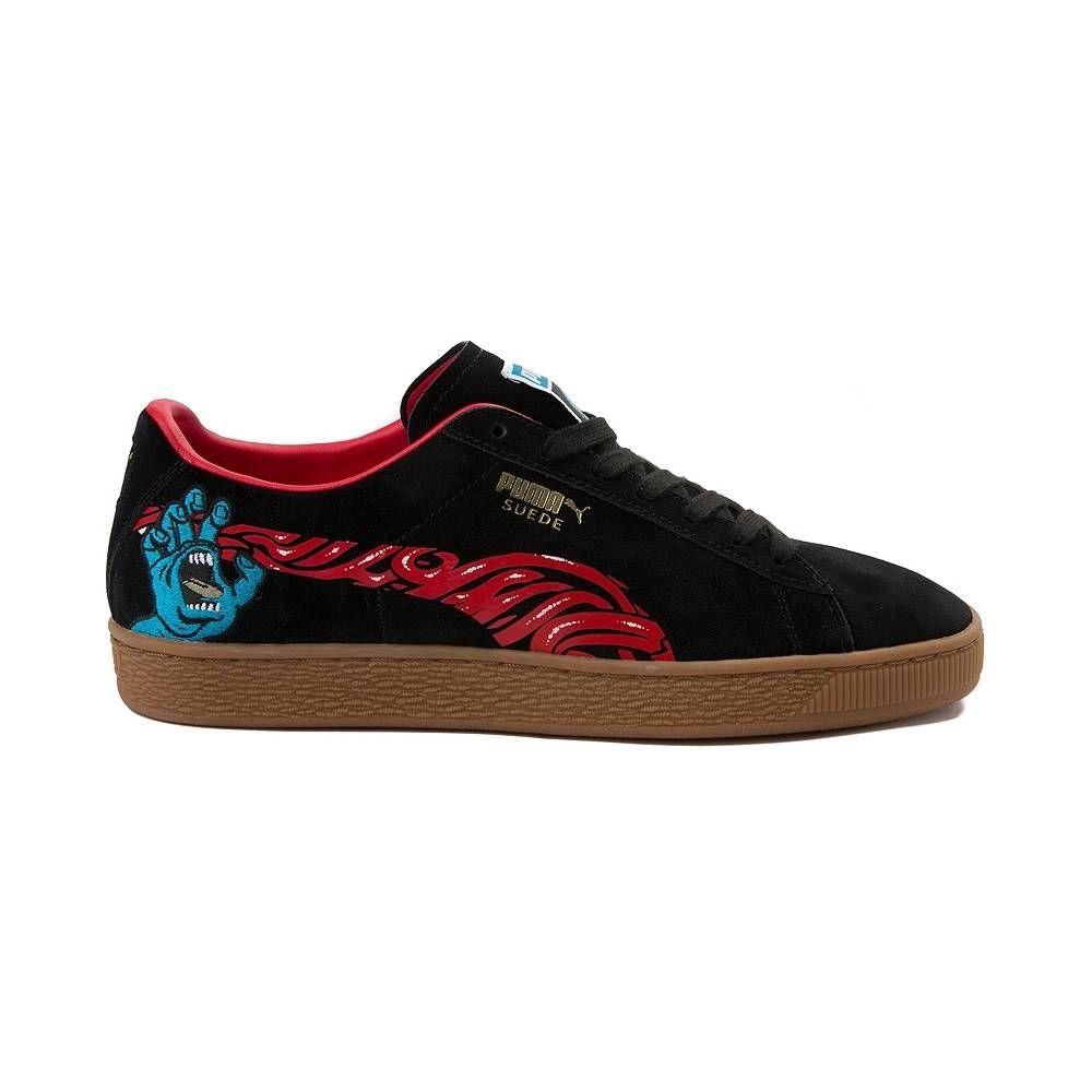Mens Puma Suede X Santa Cruz Skateboards Athletic Shoe Black Gum 361833 Puma Suede Shoes Puma