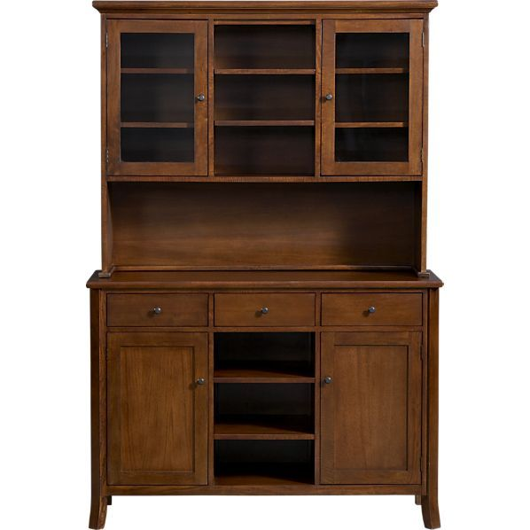 Cabria II Honey Brown Buffet With Hutch Top In Sale Kitchen