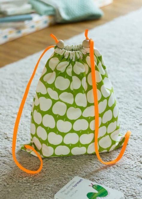 Kinder-Turnbeutel DIY   Stoffe & Ideen   Sew Mama Sew, Sewing ...