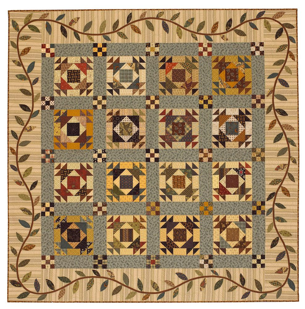 Prairie Vine Inspired By A Passion For Antique Quilts And Vintage Looking Fabrics This Heirloom Quilt Quilts American Patchwork And Quilting Miniature Quilts