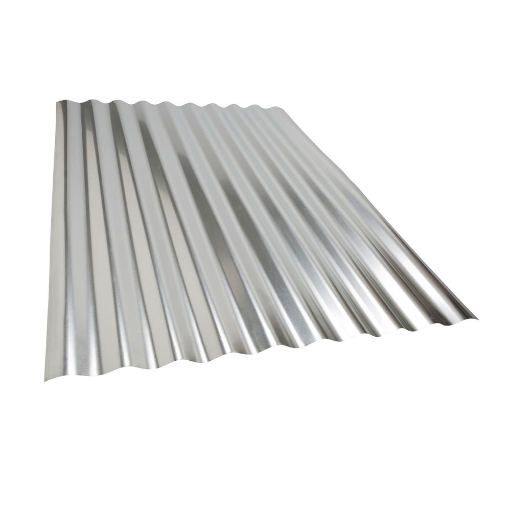 Amerimax Project Panel Corrugated 3 Ft Galvanized Steel Roof Panel 4736011001 The Home Depot Steel Roof Panels Corrugated Metal Roof Roof Panels