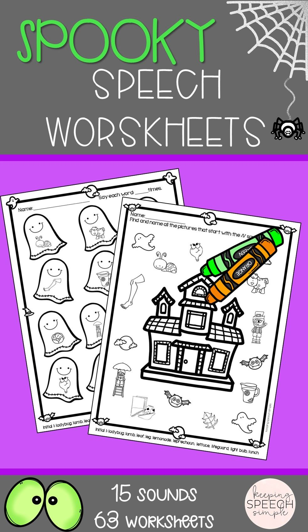 These Fun Halloween Themed Worksheets Are Perfect For October Therapy Speech Therapy Worksheets Halloween Speech Activities Halloween Speech Therapy Activities [ 1701 x 983 Pixel ]