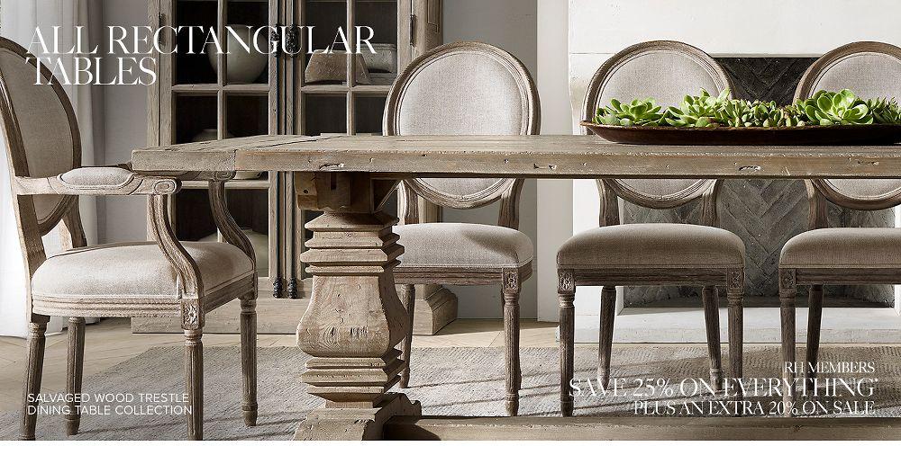 Rectangular Tables   RH   Restoration hardware dining room ...