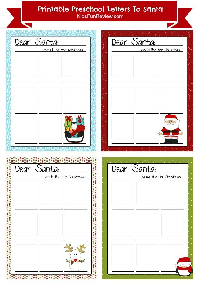 Fun Printable Preschool Letter To Santa Free printable, Santa and Free