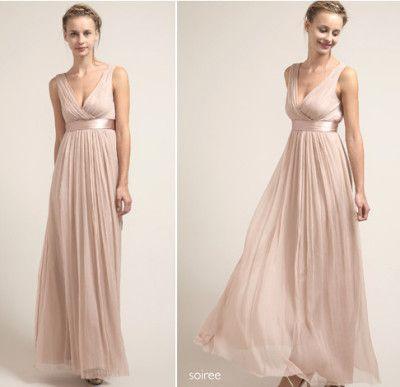 Saja Champagne Bridesmaid Dress 400x387 Pink Wedding Color Palette