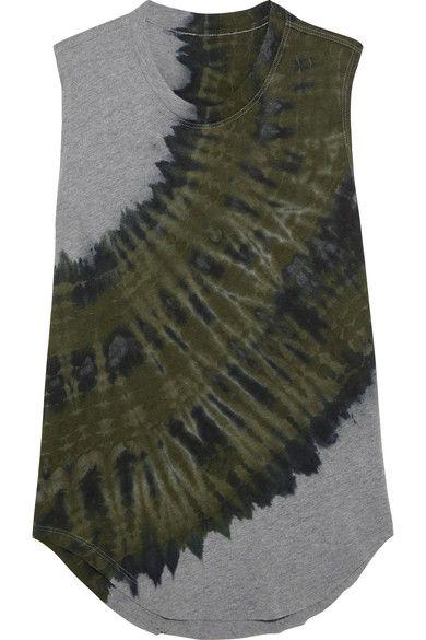 be717278e6a0a8 RAQUEL ALLEGRA Tie-dyed cotton-blend jersey tank.  raquelallegra  cloth  上衣