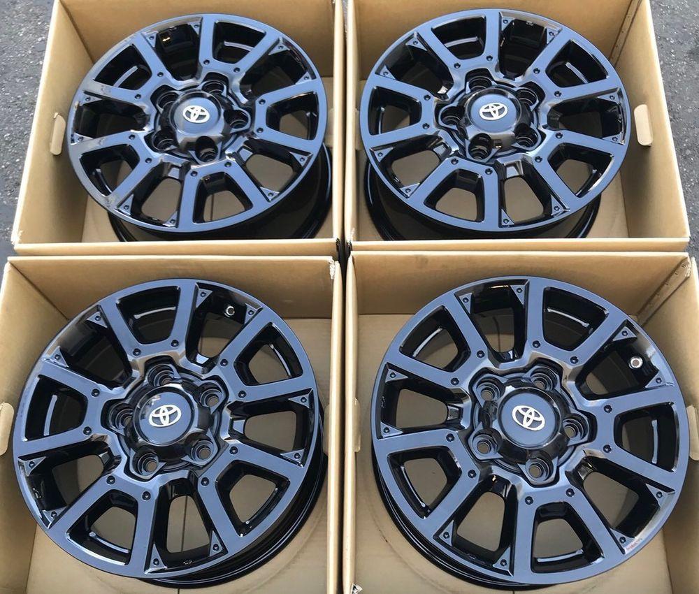 Us 1 200 Toyota Tundra Trd Pro 18 Oem Factory Wheels Rims 18 Gloss Black Toyota Trd Tacoma Tundra 4ru Toyota Tundra Toyota Tundra Trd Tundra Trd Pro