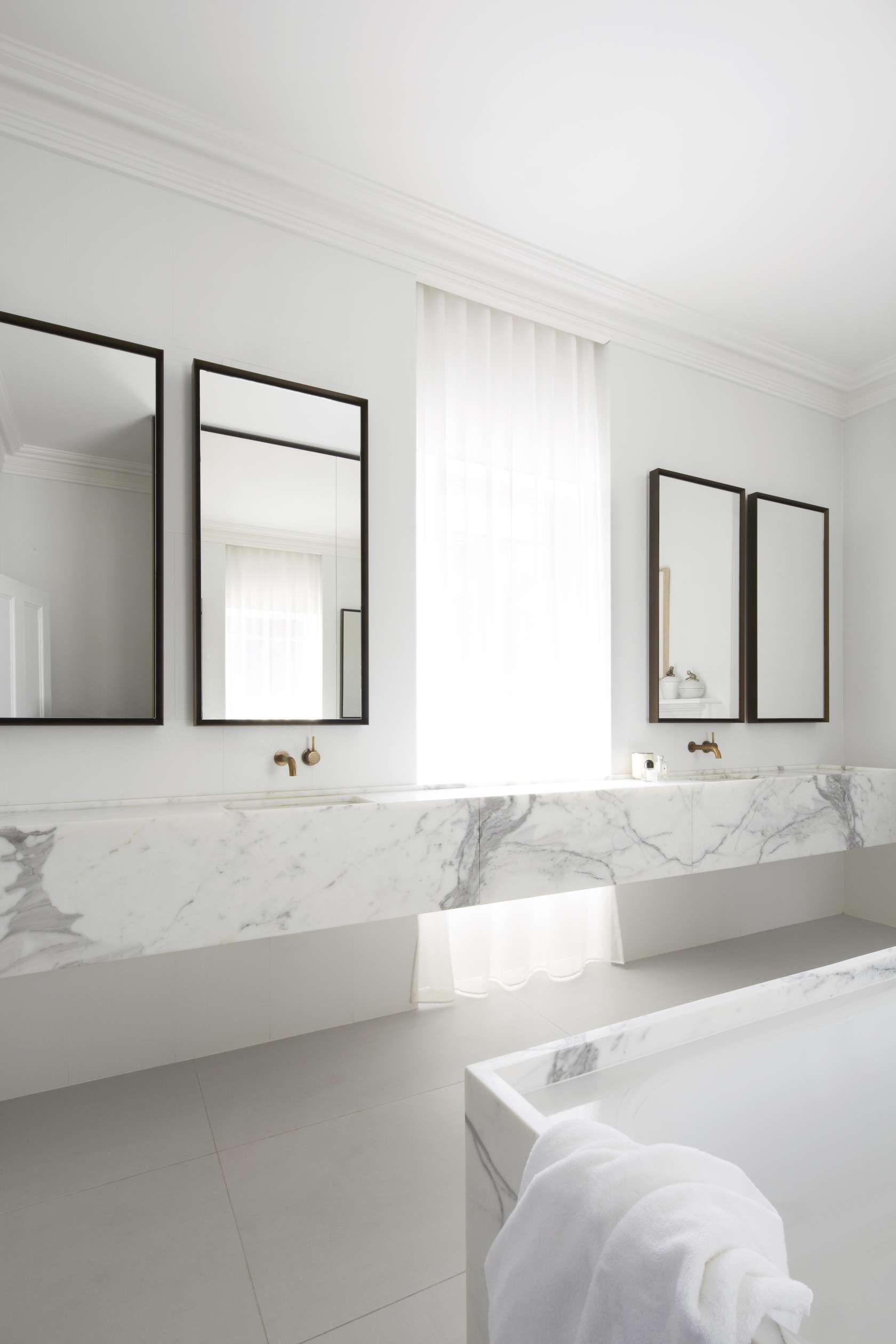 Smart Bathroom Design White Marble Bathroomsmart Design Studiophotosharrin Rees