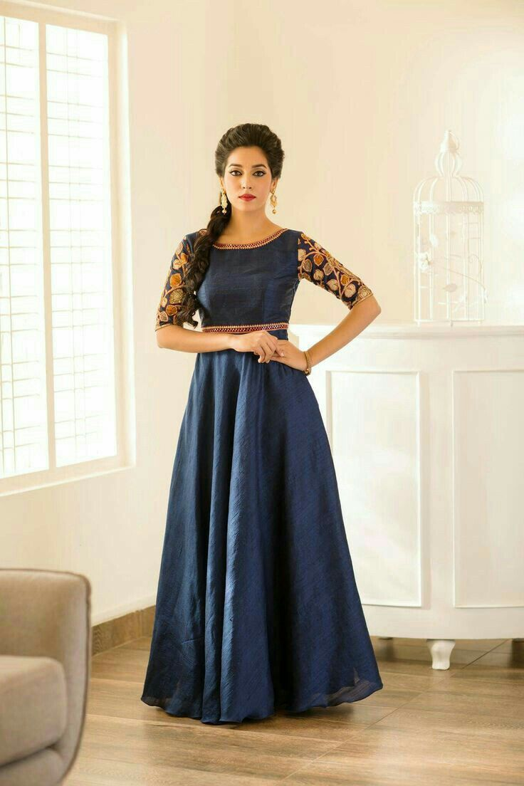 I Like The Hair Style Kurtis Fashion Anarkali Gown