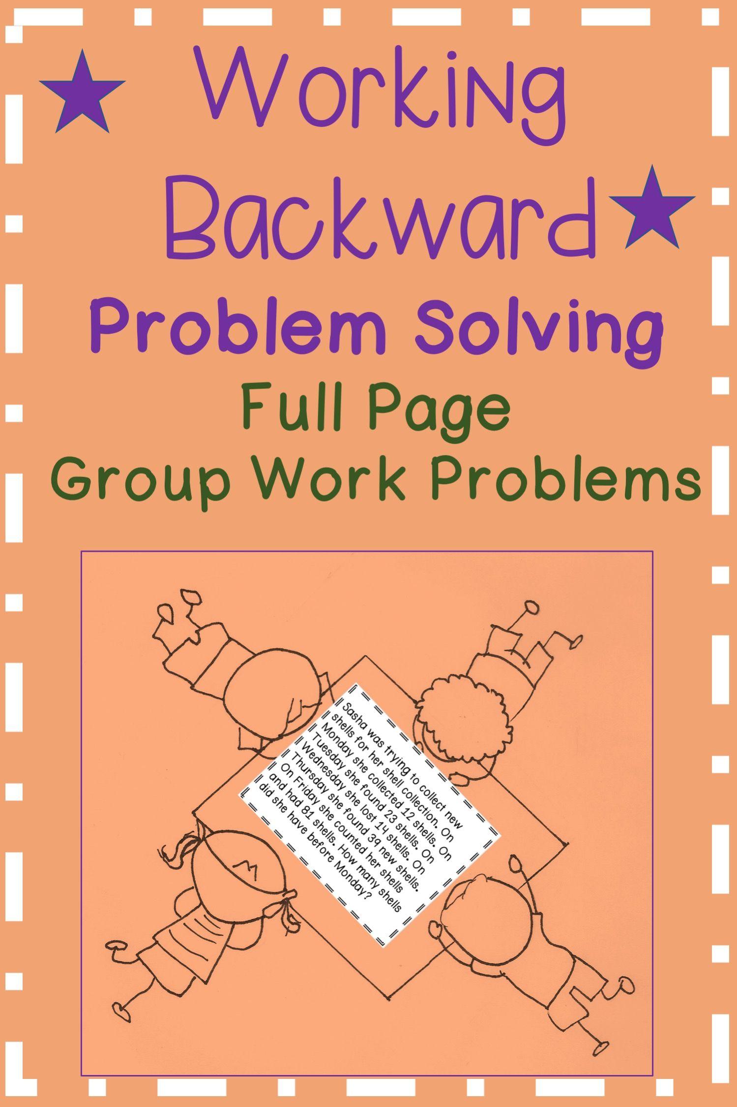 Working Backward Problem Solving Math Problem Solving Problem Solving Problem Solving Strategies