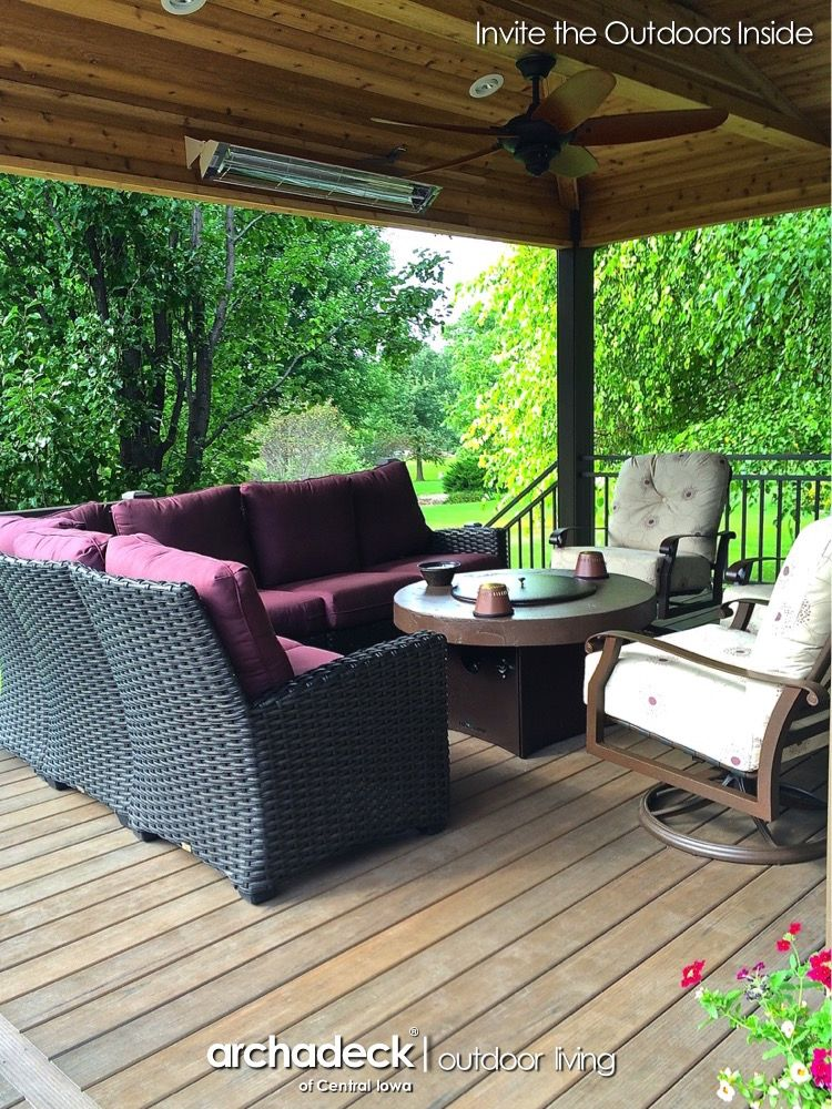 Infratech Infrared Heaters Turn Up The, Patio Furniture Des Moines