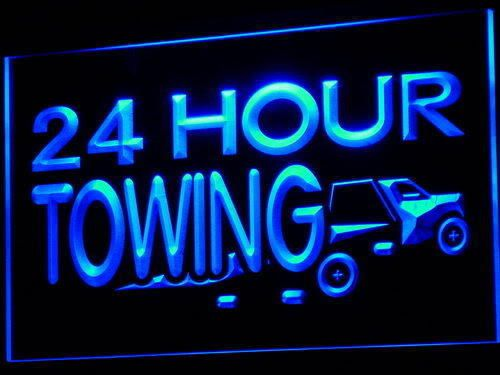 24 Hours Towing Car Repairs Auto Neon Light Sign