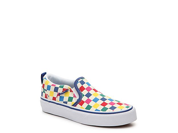 9c714fd5b9 Girls Asher Toddler   Youth Slip-On Sneaker -Multicolor Checkerboard ...