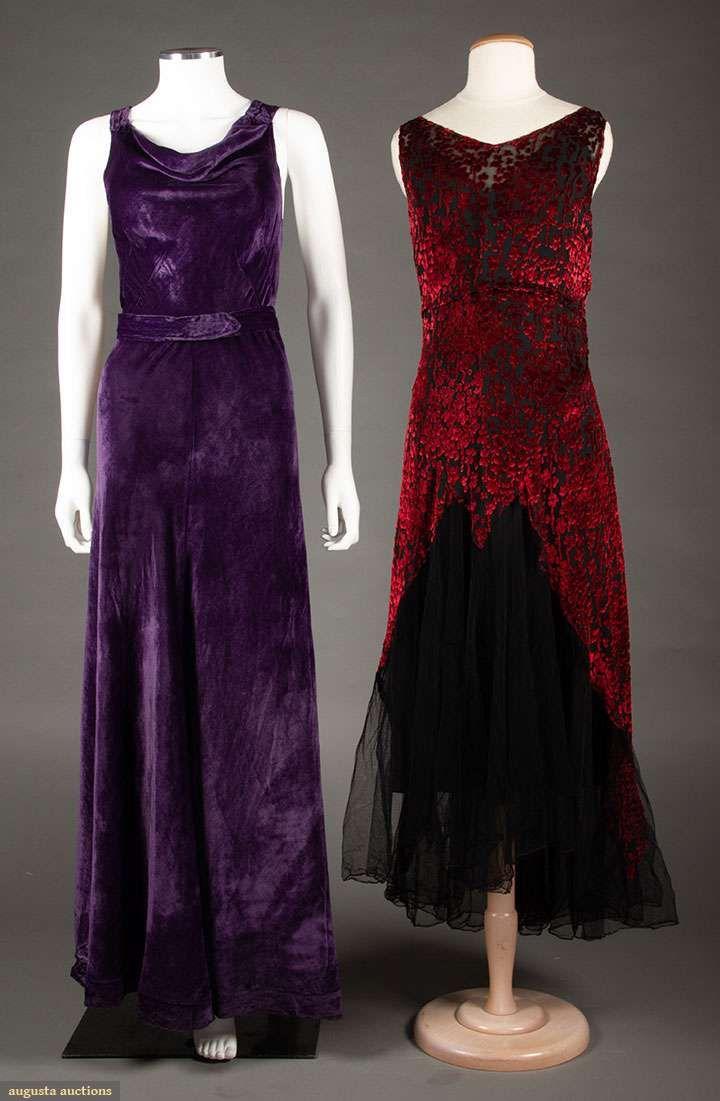 Two velvet evening gowns s dressing up pinterest dresses