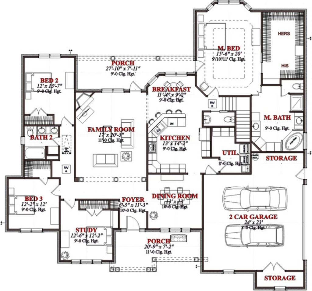Kitchen Nook For Example Crossword: Contemporary House Plan 78715