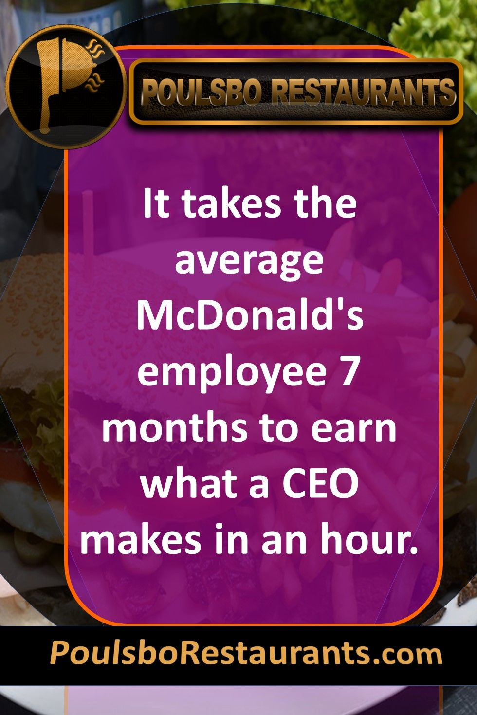 It takes the average McDonald's employee 7 months to earn