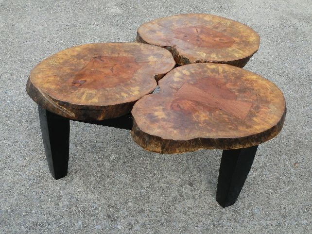 Large Tree Stump Coffee Table Woodworking And Wood Carving