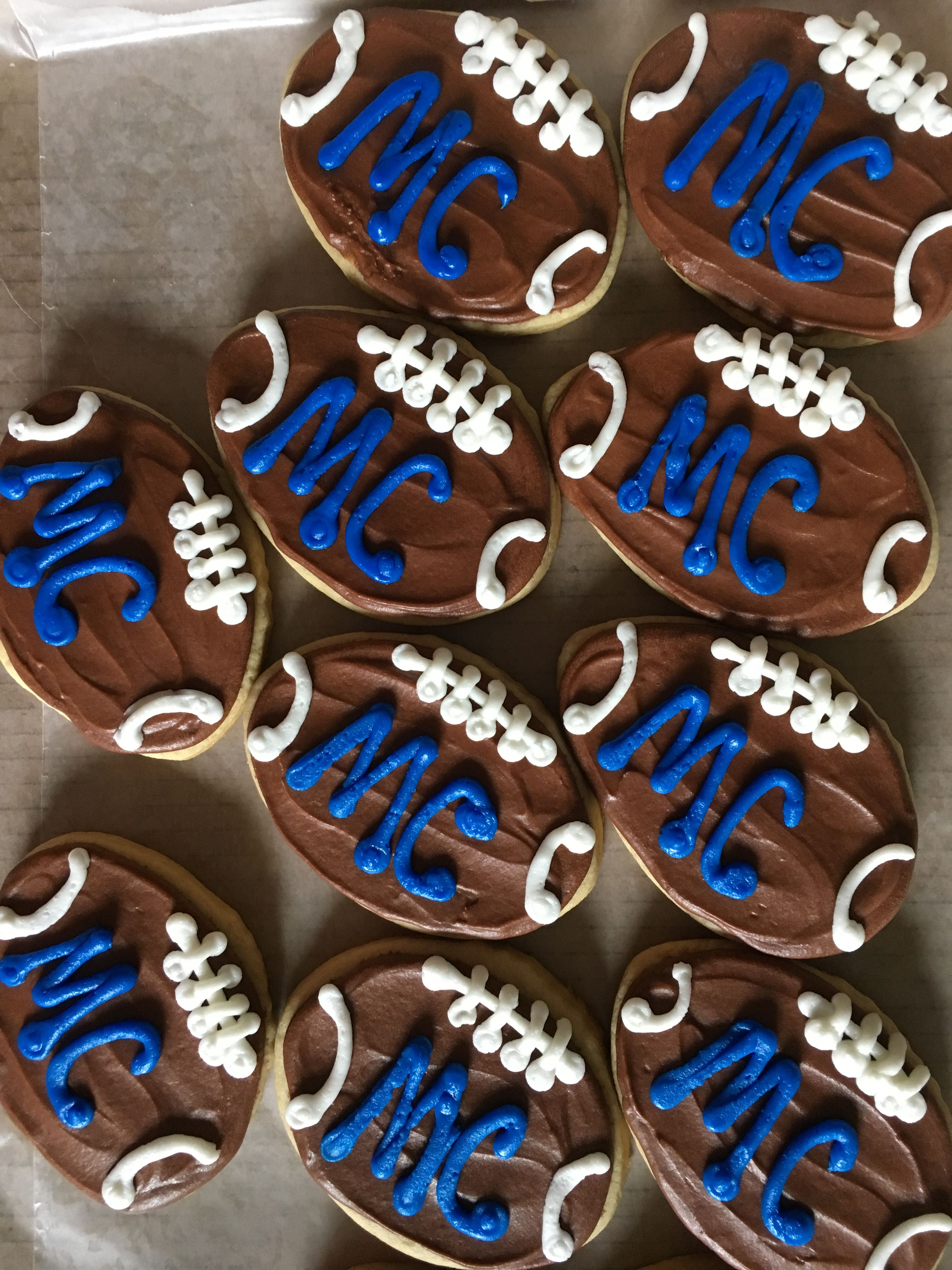 Marietta College football cookies | Football cookies ...
