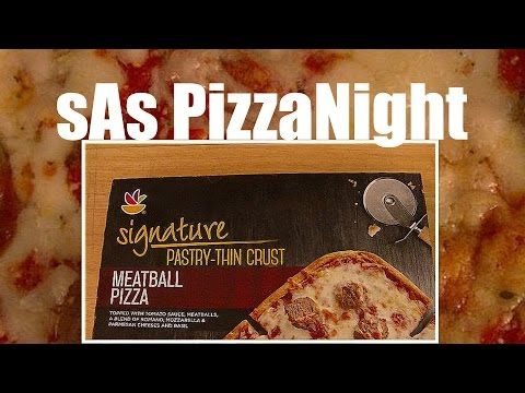 sAs PizzaNight: Giant Food Signature Meatball Pizza