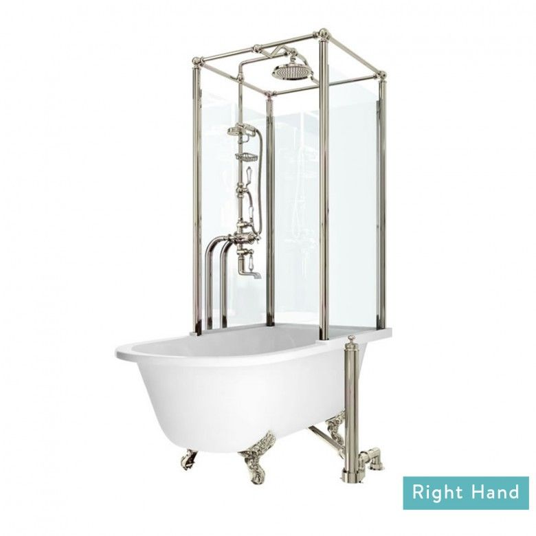 Arcade Royal Freestanding Roll Top Bath with Shower Temple