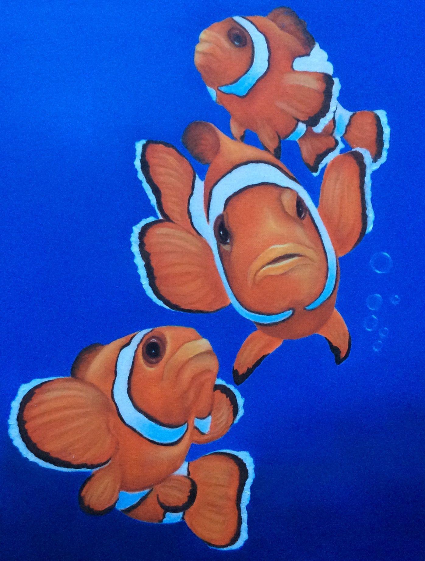 Clown Fish Painting Coming Soon Drawing Ideas Fish Drawings