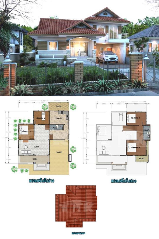 Classic Four Bedroom Split Level House Modern Filipino House Two Story House Design Split Level House